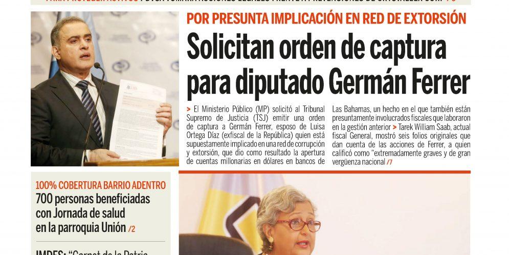 Esta es la #Portada de Ciudad BQTO de este jueves ¡Na' Guará e' periódico!