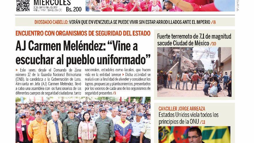 ¡Na´ Guará  ´e portada la de Ciudad BQTO de este miércoles!