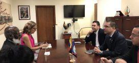 Canciller Arreaza sostuvo reunión con su homólogo de Belice